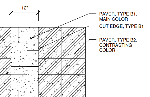 Detail components in the landscape landarchbim for Paving planner
