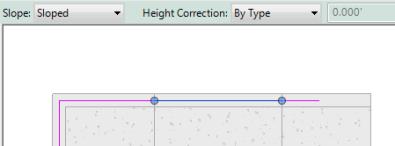 sloped segment