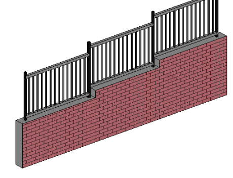 stepped railing