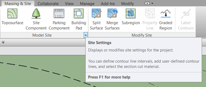 site settings_ribbon