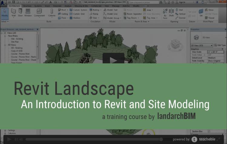 landarchBIM BIM in landscape architecture with a focus on Revit – Landscape Architect Training