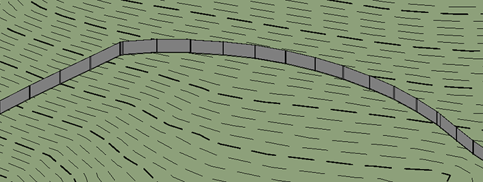 How to Make (Non-Adaptive) Fences Follow Topo – landarchBIM